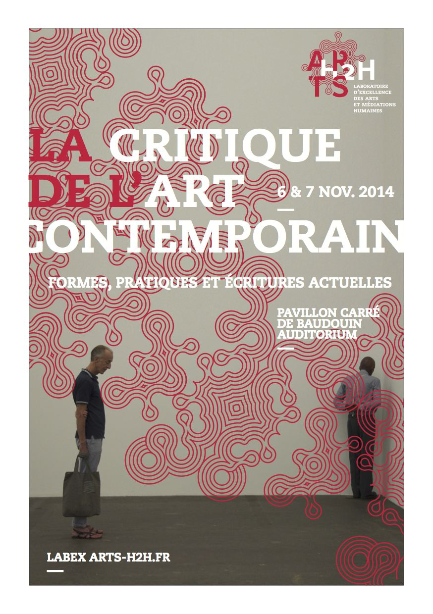 COLLOQUE > La critique de l'art contemporain – 6-7 novembre 2014