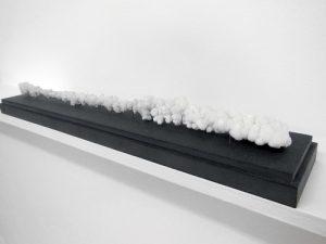 Concretio 20, 2008 Sel et corde. 8 x 60 x 9 cm © Charlotte Charbonnel