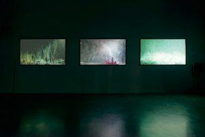 Hicham Berrada, Sol, vue d'exposition, Centre d'art Micro Onde, Vélizy-Villacoublay, 2015. Photo : Aurélien Mole, permission du Centre d'art Micro Onde